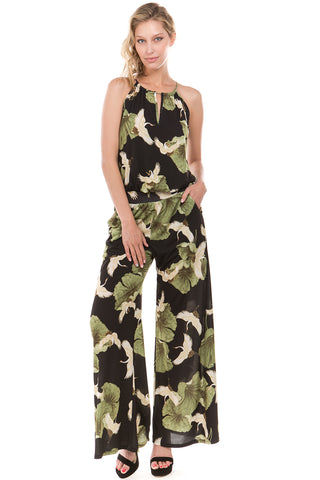 CRANE JUMPSUIT (Black)-VD2217