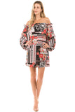 PIPPA OFF SHOULDER DRESS(MULTI)-VD2278