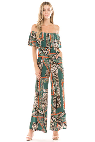 LIVIA JUMPSUIT (Green)- VD2316