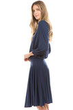 PHOEBE DRESS (NAVY)-VD2347