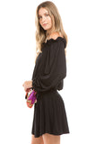 SLOANE OFF SHOULDER DRESS (BLACK)-VD2351