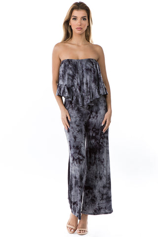 BRYNN JUMPSUITS (CHARCOAL TIE DYE)- VD2390