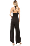 AMAYA BRA TOP JUMPSUIT (Black)-VD2427
