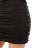 CALLIOPE DRAPE DRESS (BLACK)- VD2435