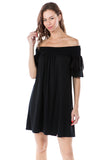 NANCY OFF SHOULDER DRESS (BLACK)- VD2556