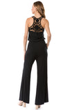 LACY 2 JUMPSUIT (BLACK)- VD2564