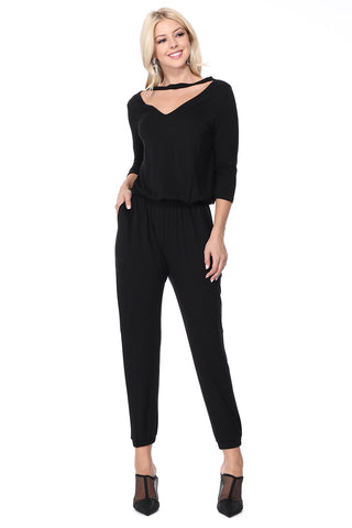 SHEENA JUMPSUIT (Black) - VD2618