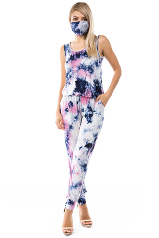 CORA JUMPSUITS (SUMMER NIGHT TIE DYE)- VD2754T
