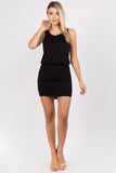 AGNES MINI DRESS (BLACK)- VD2763T