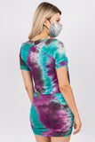 JEMIME DRESS (AURORA TIE DYE)- VD2771T