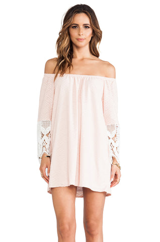 Caitlyn Off Shoulder Dress (PEACH)- VD9079
