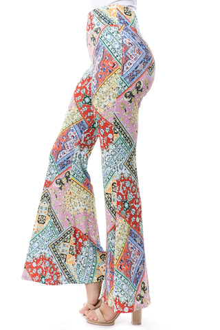 MONICA PANTS (PINK MULTI)- VP2276