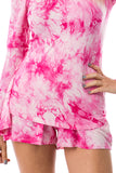CORA SHORT PANTS (FUSCHIA TIE DYE)- VP2759T