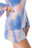 CORA SHORT PANTS (PEACH/BLUE TIE DYE)- VP2759T
