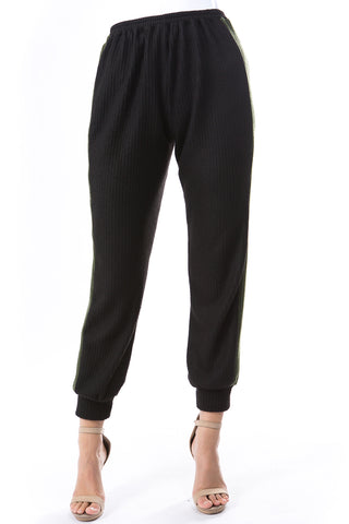 AGNES PANTS (BRUSH BLACK/BRUSH OLIVE)-VP2769