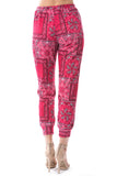 LUX JOGGER PANTS (BANDANA RED)-VP2780