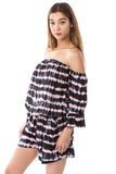 SAVANNAH ROMPER (BLACK/PEACH)- VR2487T