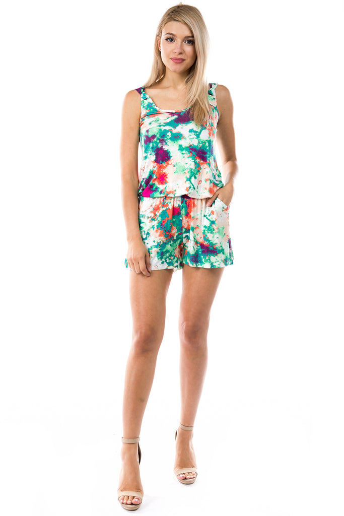 PAIGE ROMPER (VACATION TIE DYE)-VR2732T