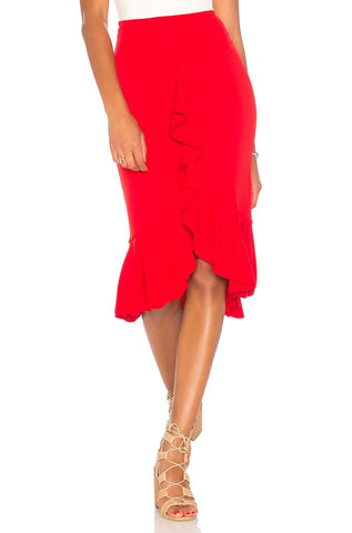 ROMAINE FRONT OPEN SKIRT (Red)- VS1811