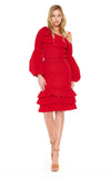 MABEL RUFFLED SKIRT (Red)-VS2048