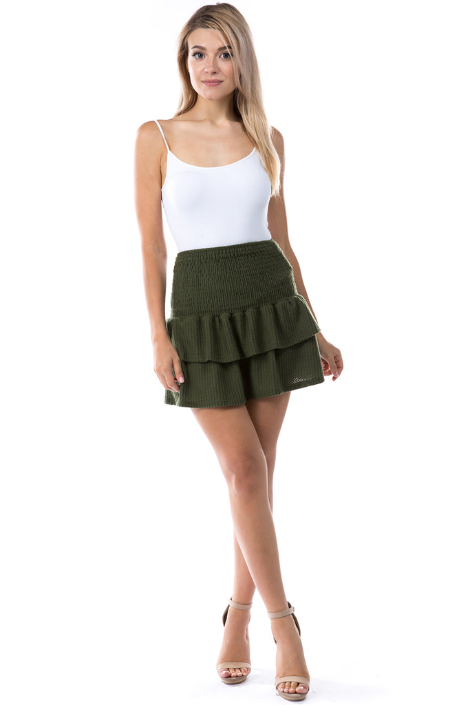Valentina Skirt (BRUSH OLIVE)-VS9785