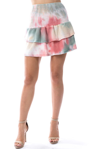 Valentina Skirt (BRUSH TAUPE PINK TIE DYE)-VS9785