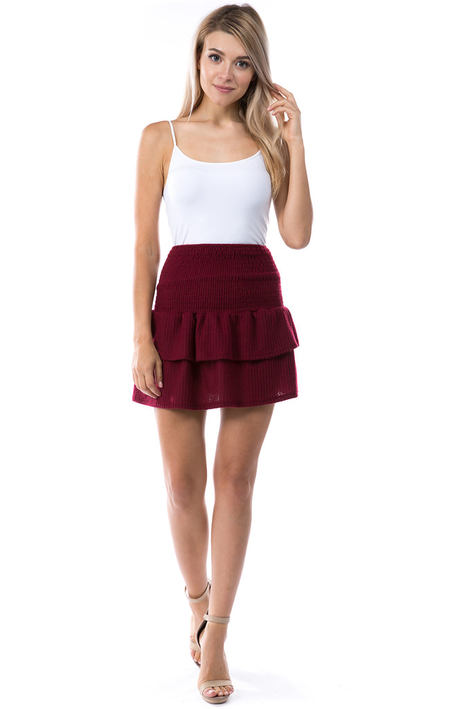 Valentina Skirt (BRUSH WINE)-VS9785
