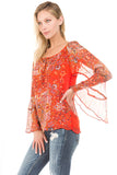 NOVA LONG SLEEVE TOP (Dark Orange)- VT1086