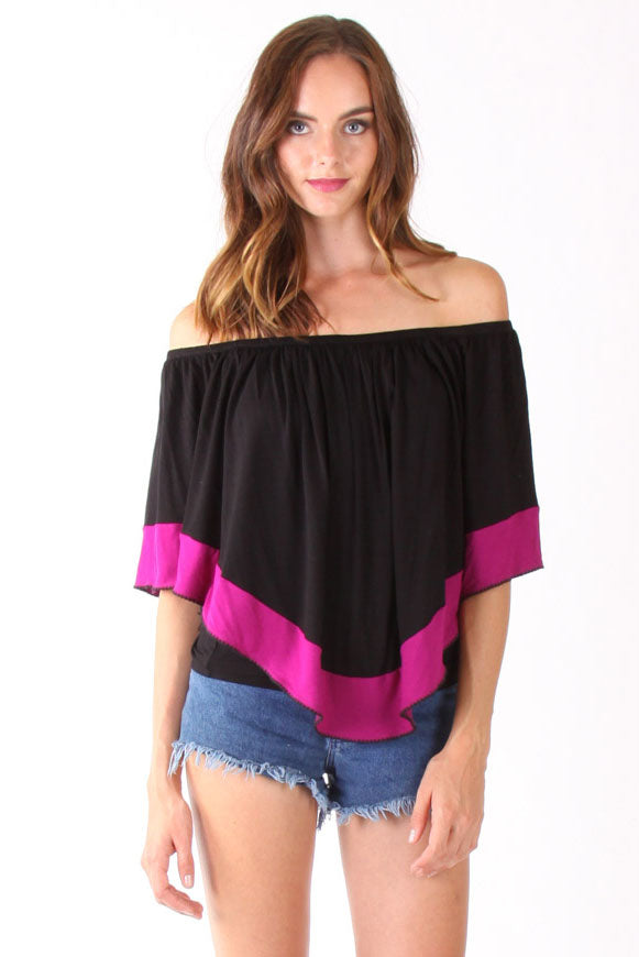YOORI CONVERTIBLE TOP(BLACK)-VT1244