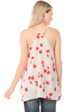 CAMI TOP (White/Small Flowers)- VT1308P