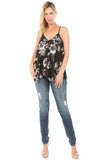 CAMI TOP (Black/Flower)- VT1308P