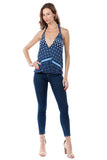 Galia Halter Top(NAVY)- VT1374P