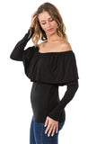 KAILA OFF SHOUDER TOP (BLACK)- VT1514