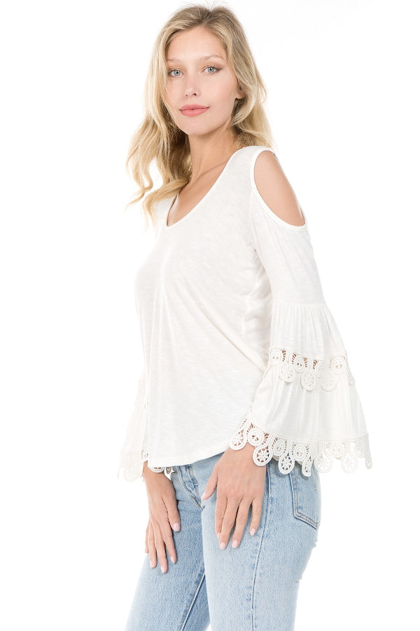KAILA BELL SLEEVE TOP (OFF WHITE)- VT1515