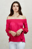 KARISSA OFF SHOULDER TOP (Fuschia)-VT1719