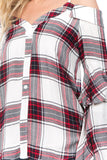 BUBBLY PLAID TOP (RED)-VT1856