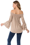 DAISY OFF SHOULDER TOP (MOCHA)- VT1884
