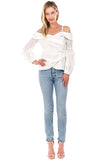 ALANA OFF SHOULDER TOP (White)- VT2078