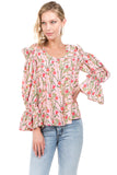 INGRID OPEN SH TOP (Peach)- VT2148