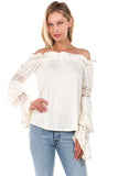 ASTRID OFF SHOULDER TOP-OFF WHITE-VT2166