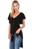 BROOKLYN WAIST-TIE TOP (Black)- VT2216