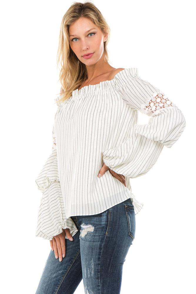 AVERY OFF SHOULDER TOP (OFF White)- VT2246