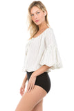 AVERY BODYSUIT (White)- VT2247