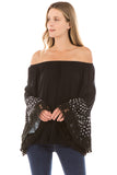 LYDIA BELL SLEEVE TOP (Black)- VT2289