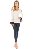 LYDIA BELL SLEEVE TOP (Ivory)- VT2290
