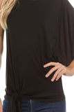 PHOEBE ASYMMETRICAL TOP (Black) - VT2346
