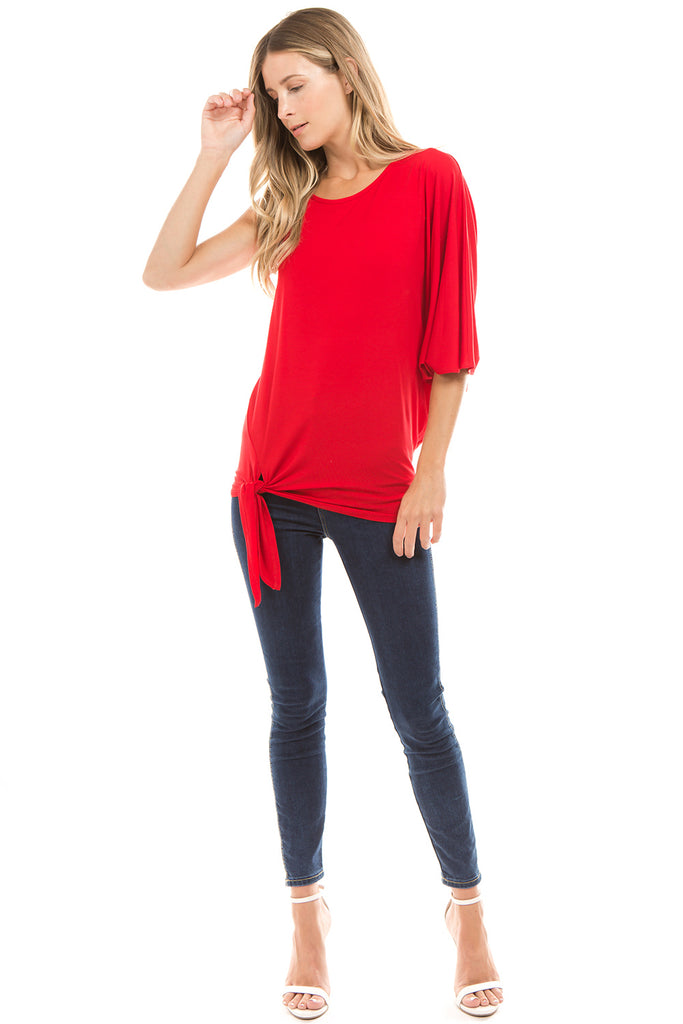 PHOEBE ASYMMETRICAL TOP (RED) - VT2346