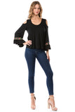 CONSTANCE OPEN SHOULDR TOP (BLACK)- VT2399T