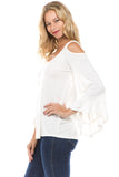 CONSTANCE OPEN SHOULDR TOP (OFF WHITE)- VT2399