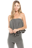 BEYONCE TUBE TOP (HEATHER GREY)- VT2408
